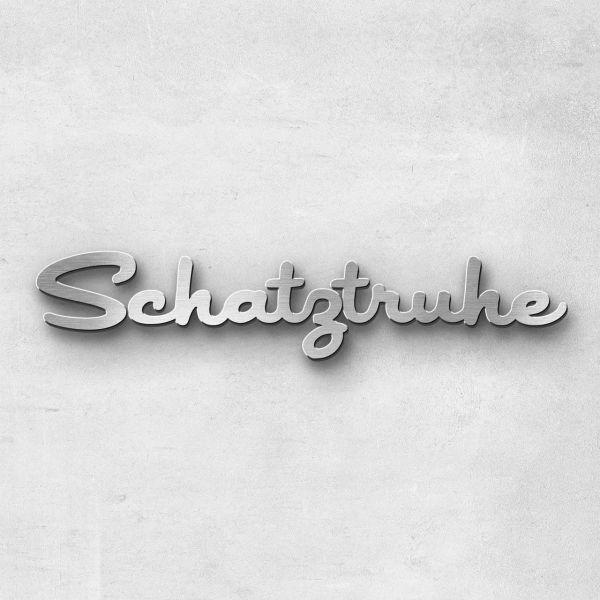"""Schriftzug """"Schatztruhe"""", Breite: 20 cm, Schriftart: Lilly, Befestigung: Selbstklebend"""