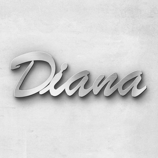 "Schriftzug ""Diana"", Breite: 8 cm, Schriftart: Scriptic, Befestigung: Selbstklebend"