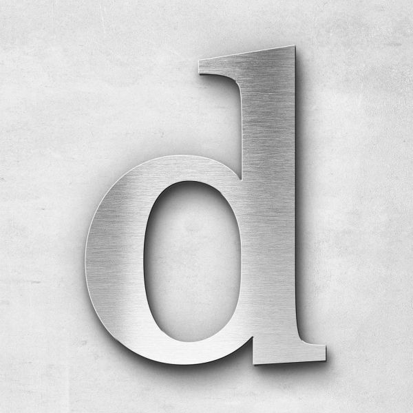 Edelstahlbuchstabe d klein - Serie Serif