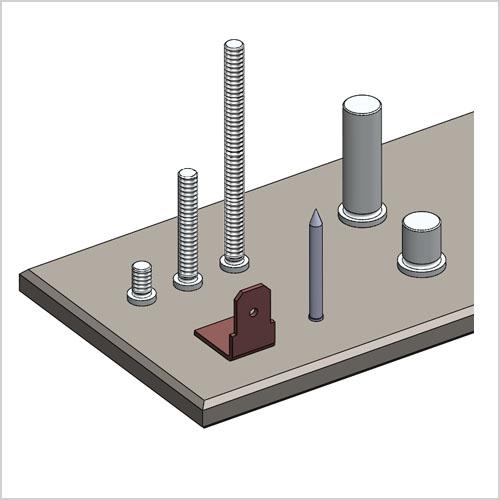 Wir fertigen Einzelteile und Serienteile inkl. Laserschneiden, Abkanten und Bolzenschweißen