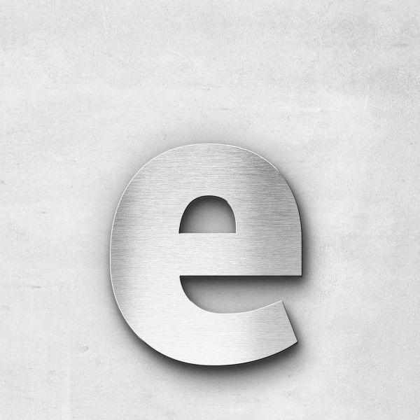 Edelstahlbuchstabe e klein - Serie Sans