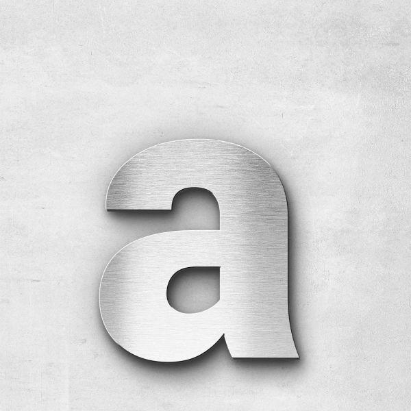 Edelstahlbuchstabe a klein - Serie Sans