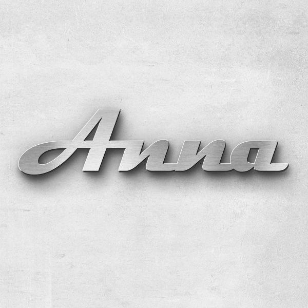 """Schriftzug """"Anna"""", Breite: 6 cm, Schriftart: Scriptic, Befestigung: Ohne"""