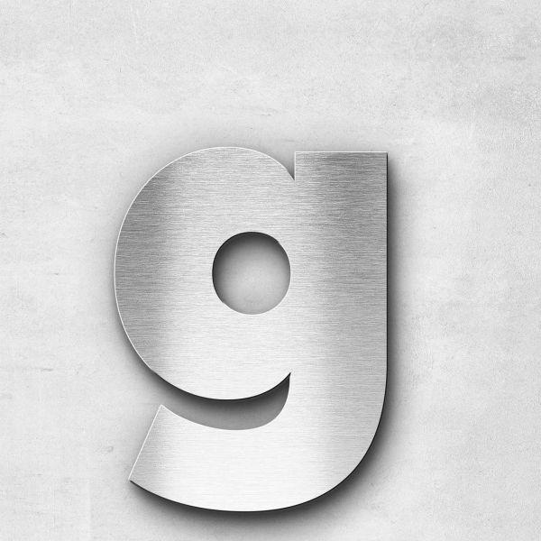 Edelstahlbuchstabe g klein - Serie Kontrast