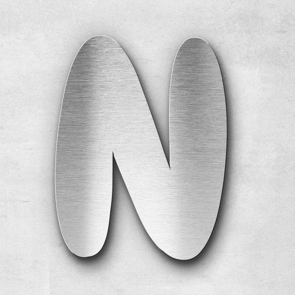 Edelstahlbuchstabe N groß - Serie Darius