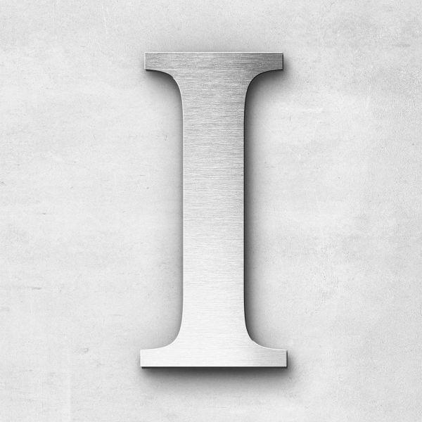 Edelstahlbuchstabe I groß - Serie Serif