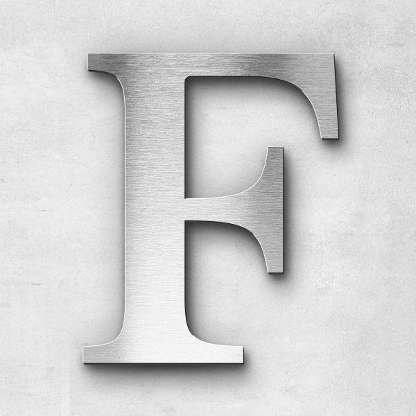 Edelstahlbuchstabe F groß - Serie Serif
