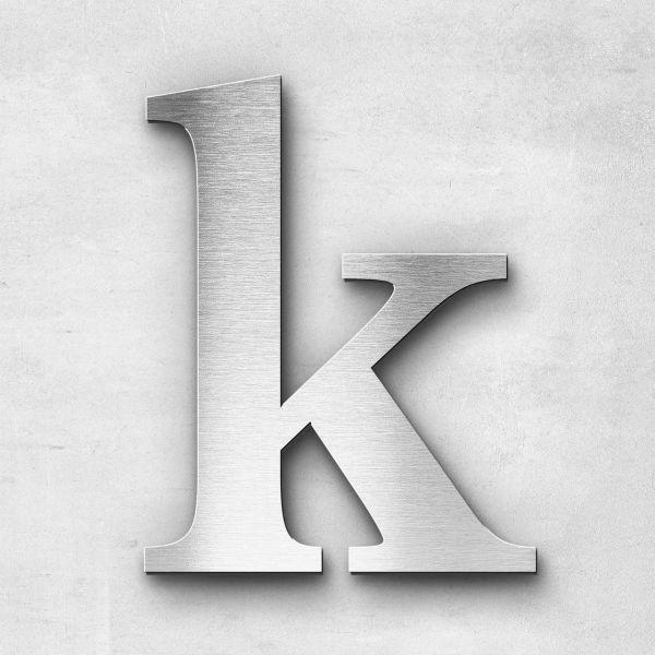 Edelstahlbuchstabe k klein - Serie Serif