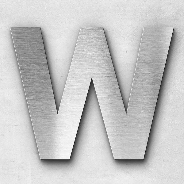Edelstahlbuchstabe W groß - Serie Sans