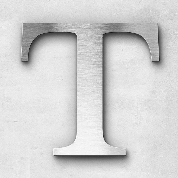 Edelstahlbuchstabe T groß - Serie Serif