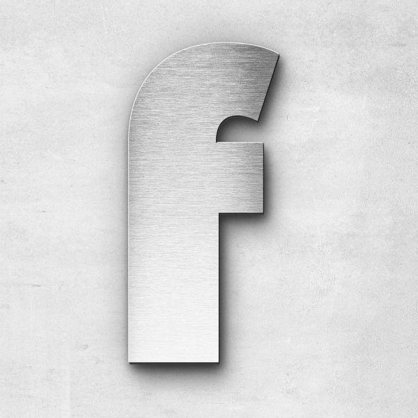 Edelstahlbuchstabe f klein - Serie Kontrast
