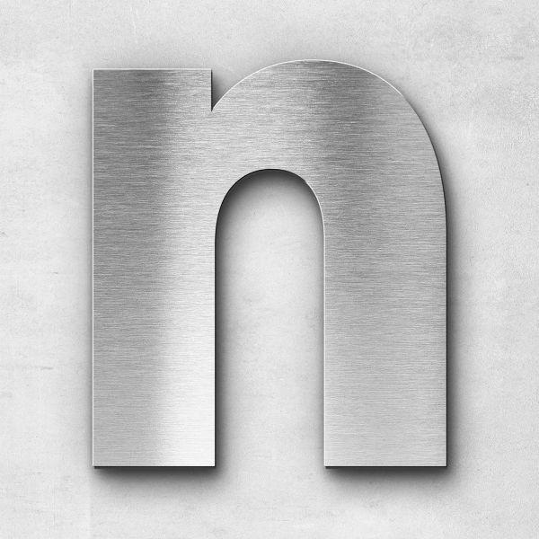 Edelstahlbuchstabe N groß - Serie Kontrast