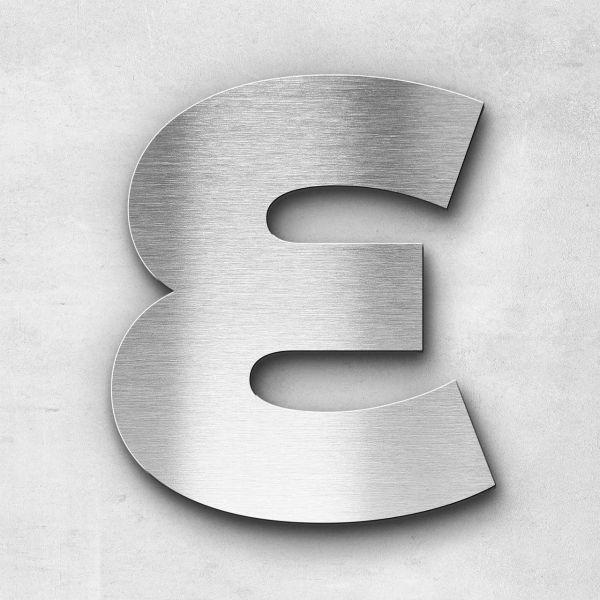 Edelstahlbuchstabe E groß - Serie Kontrast
