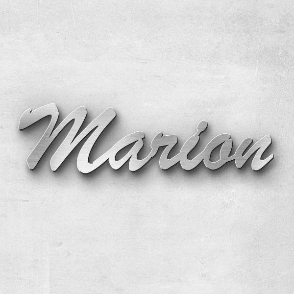 """Schriftzug """"Marion"""", Breite: 14 cm, Schriftart: Lilly, Befestigung: Ohne"""