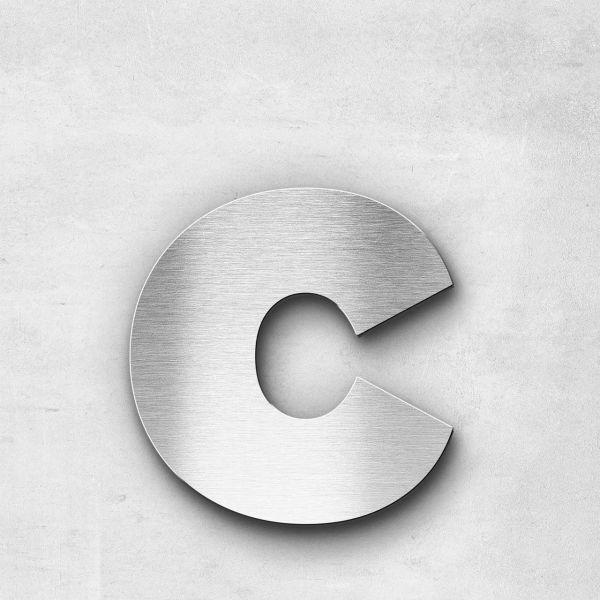 Edelstahlbuchstabe c klein - Serie Kontrast