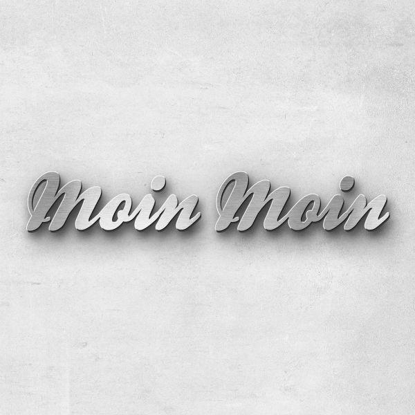 """Schriftzug """"Moin Moin"""", Breite: 50 cm, Schriftart: Scriptic, Befestigung: Selbstklebend"""