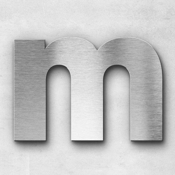 Edelstahlbuchstabe M groß - Serie Kontrast