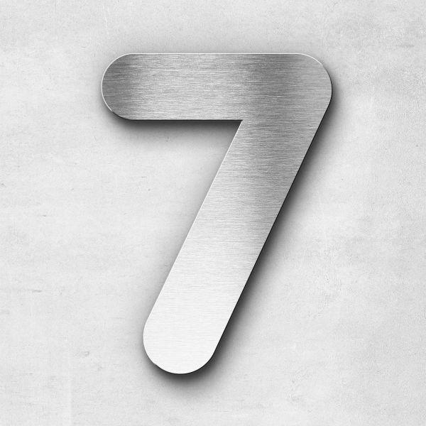 Hausnummer 7 Edelstahl - Serie Classic