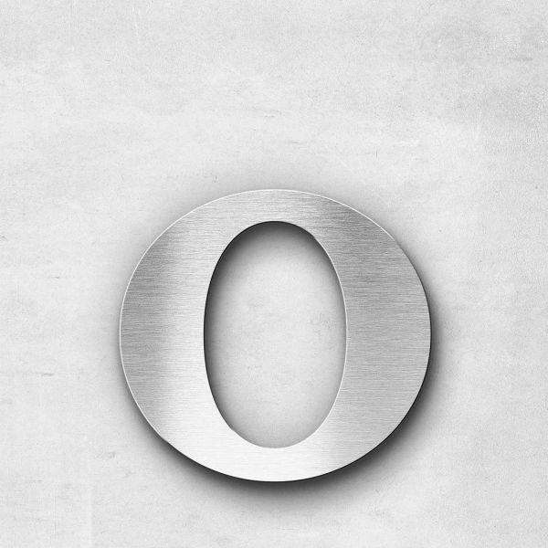 Edelstahlbuchstabe o klein - Serie Serif