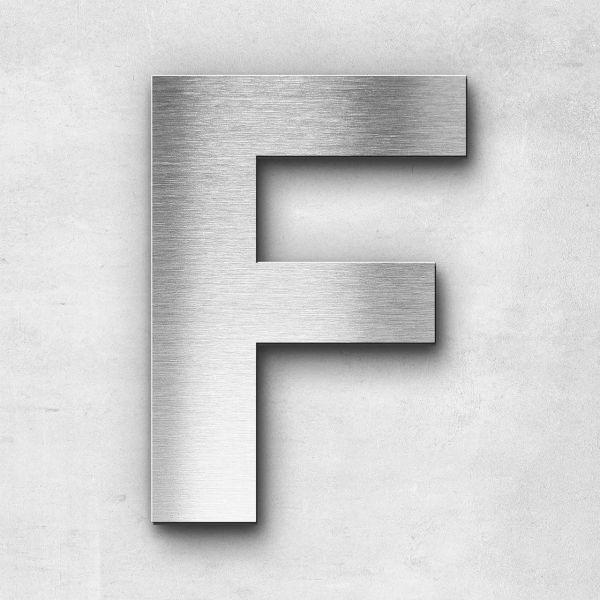 Edelstahlbuchstabe F groß - Serie Sans