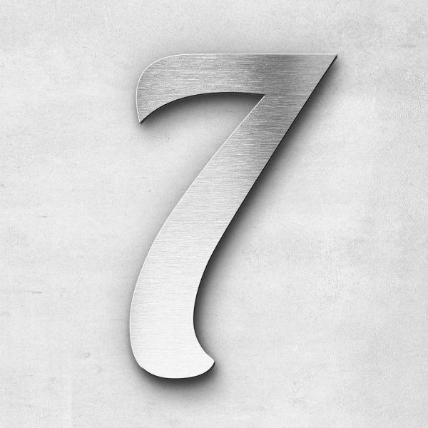 Hausnummer 7 Edelstahl - Serie Elegant