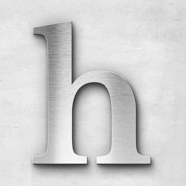 Edelstahlbuchstabe h klein - Serie Serif