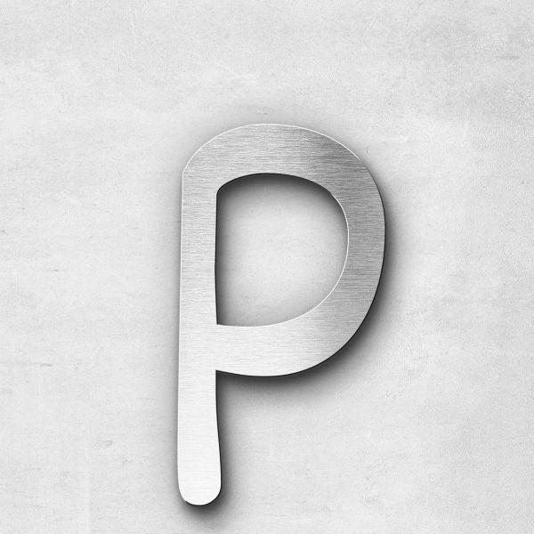 Edelstahlbuchstabe p klein - Serie Malta