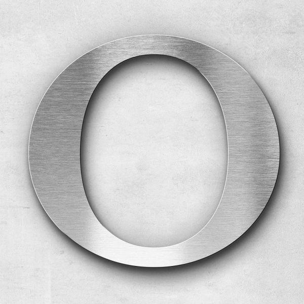 Edelstahlbuchstabe O groß - Serie Serif