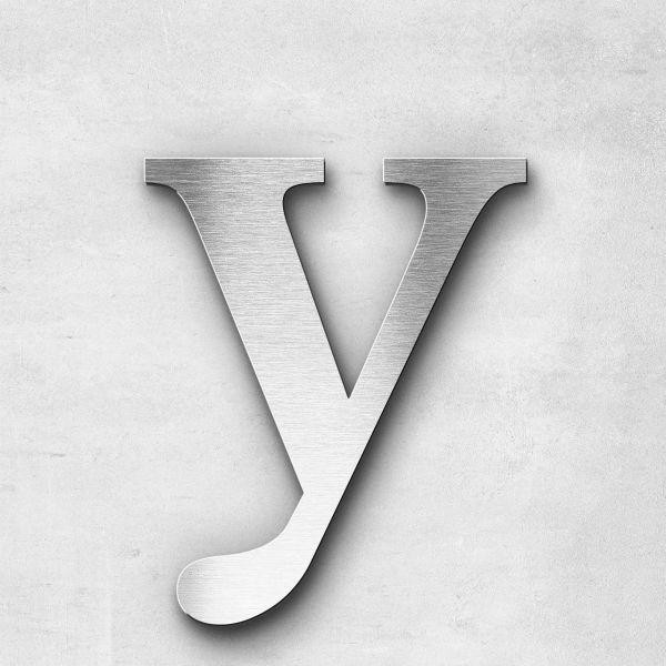 Edelstahlbuchstabe y klein - Serie Serif