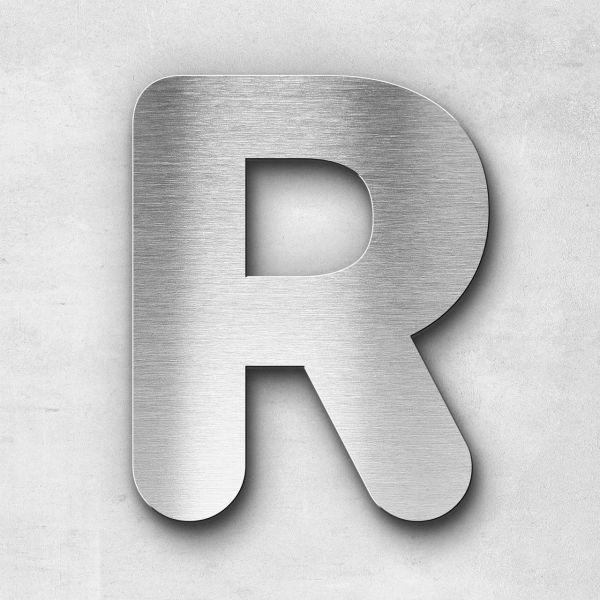 Edelstahlbuchstabe R groß - Serie Classic