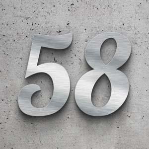 Hochwertige, wetterbeständige Hausnummern aus Edelstahl
