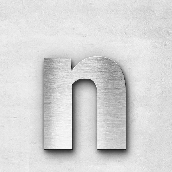 Edelstahlbuchstabe n klein - Serie Sans