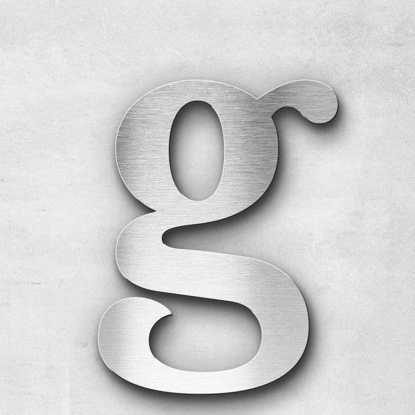 Edelstahlbuchstabe g klein - Serie Serif