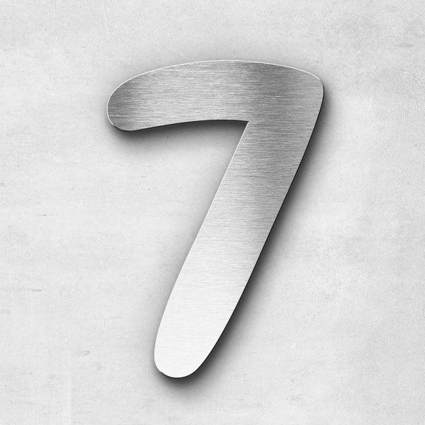 Hausnummer 7 Edelstahl - Serie Darius