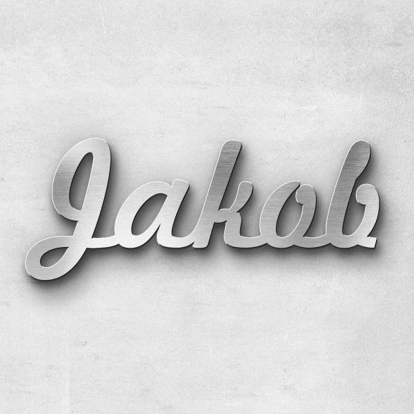 "Schriftzug ""Jakob"", Breite: 9 cm, Schriftart: Lilly, Befestigung: Selbstklebend"
