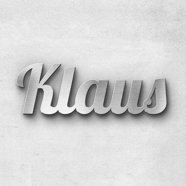 """Schriftzug """"Klaus"""", Breite: 11 cm, Schriftart: Lilly, Befestigung: Selbstklebend"""