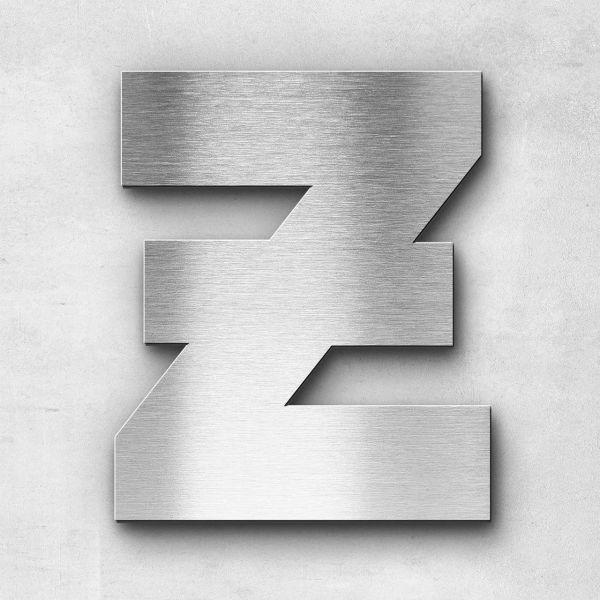 Edelstahlbuchstabe Z groß - Serie Kontrast