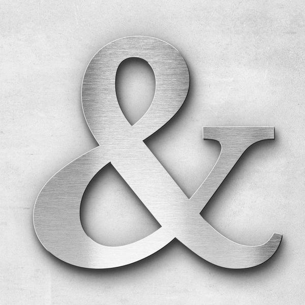 Edelstahlbuchstabe Und-Zeichen Sonderzeichen - Serie Serif