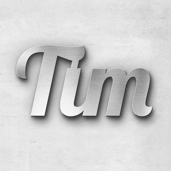 """Schriftzug """"Tim"""", Breite: 10 cm, Schriftart: Lilly, Befestigung: Selbstklebend"""