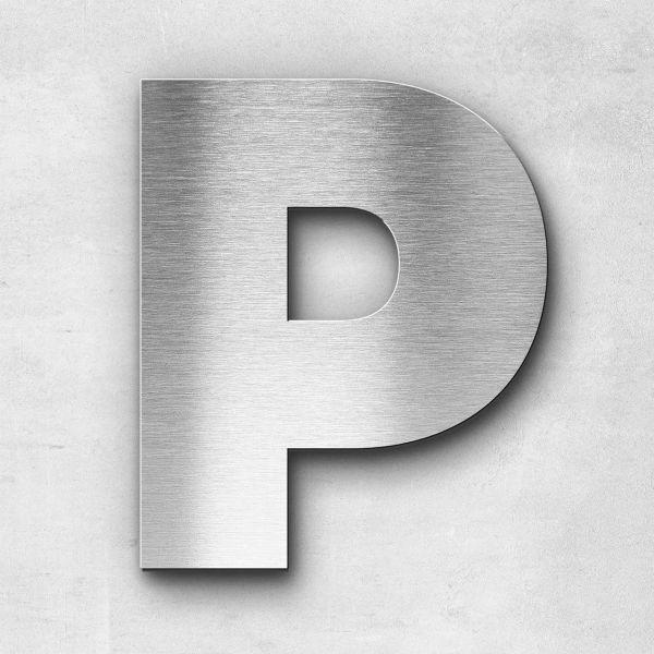 Edelstahlbuchstabe P groß - Serie Kontrast