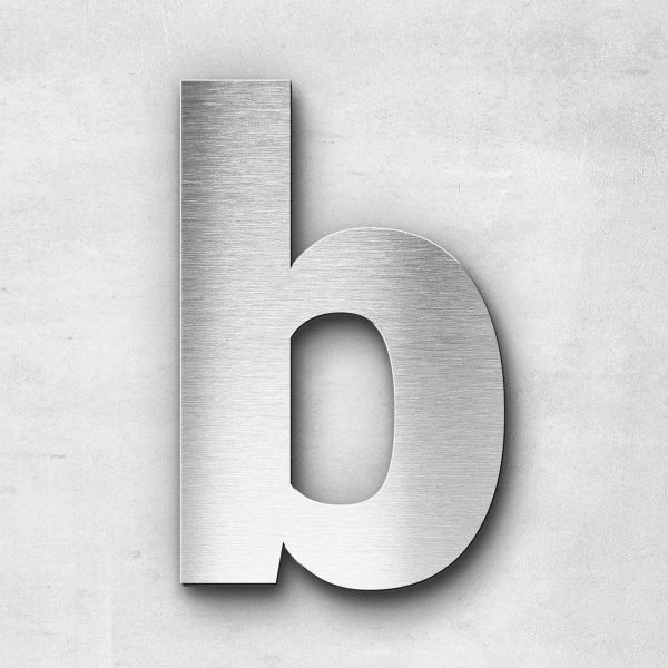 Edelstahlbuchstabe b klein - Serie Sans