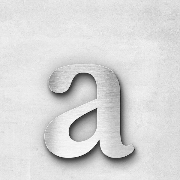 Edelstahlbuchstabe a klein - Serie Serif