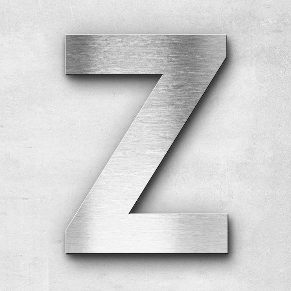 Edelstahlbuchstabe Z groß - Serie Sans