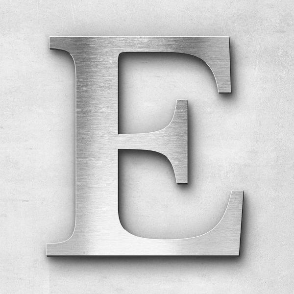 Edelstahlbuchstabe E groß - Serie Serif