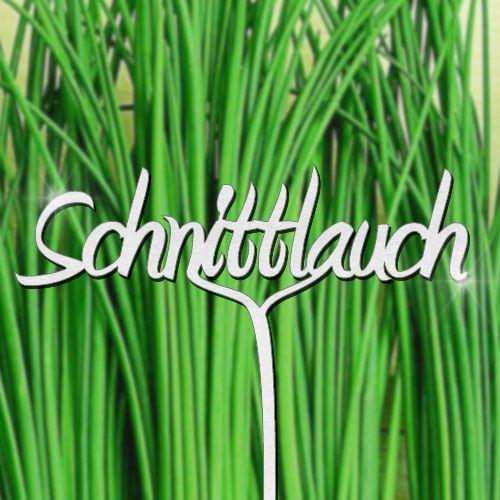 Pflanzenstecker Schnittlauch - Edelstahl