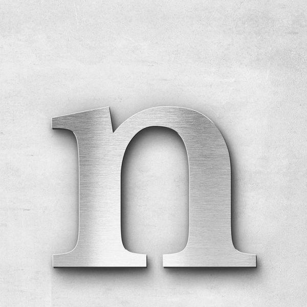 Edelstahlbuchstabe n klein - Serie Serif