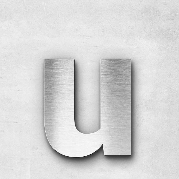 Edelstahlbuchstabe u klein - Serie Sans