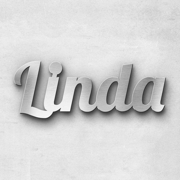 """Schriftzug """"Linda"""", Breite: 10 cm, Schriftart: Lilly, Befestigung: Selbstklebend"""
