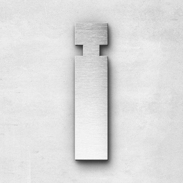 Edelstahlbuchstabe i klein - Serie Sans