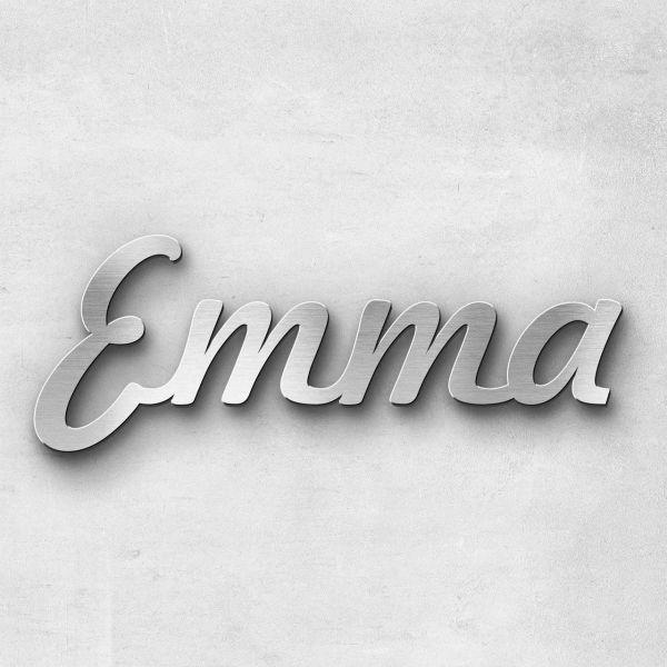 "Schriftzug ""Emma"" Edelstahl gebürstet"
